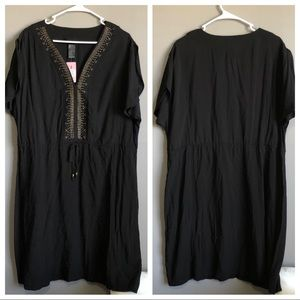 Torrid • Black studded Swim Coverup